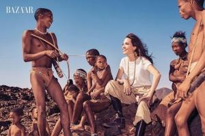 ანჯელინა ჯოლის აფრიკული ფოტოსესია - Harper's Bazaar