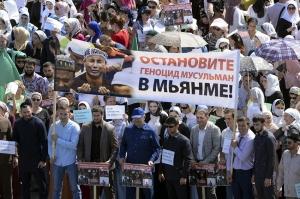 """გროზნოში """"მუსლიმთა გენოციდის"""" წინააღმდეგ აქცია გაიმართა"""