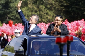 სამხრეთ კორეის პრეზიდენტი ჩრდილოეთ კორეაში ჩავიდა