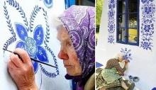 90 წლის ჩეხმა ქალბატონმა სოფელი სამხატვრო გალერეად აქცია