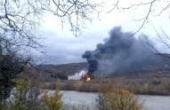 აფეთქების შედეგად გუმათჰესი 2-ის ტერიტორიაზე 18 ტონამდე საწვავი დაიღვარა